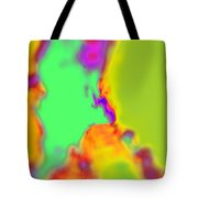 Color Fusion Abstract Tote Bag