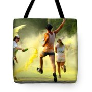 Color Run Happy Tote Bag