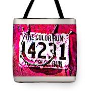 Color Run Number Tote Bag