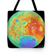 Color Shaded Relief Of The Lunar Tote Bag