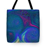 Color Swirl Abstract Tote Bag