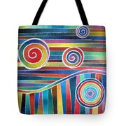 Color Wave And Suckers Tote Bag