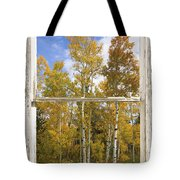 Colorado Autumn Aspens Picture Window View Tote Bag