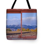 Colorado Country Red Rustic Picture Window Frame Photo Art Tote Bag