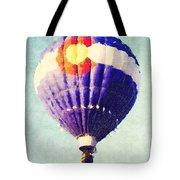 Colorado Flag Hot Air Balloon Tote Bag