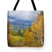 Colorado Rocky Mountain Autumn Scenic Drive Tote Bag