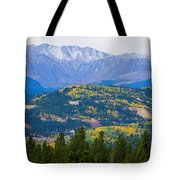Colorado Rocky Mountain Autumn View Tote Bag