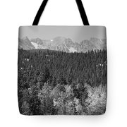 Colorado Rocky Mountain Continental Divide View Bw Tote Bag