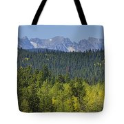 Colorado Rocky Mountain Continental Divide Autumn View Tote Bag