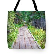 Colorado Rocky Mountain Forest Path Tote Bag
