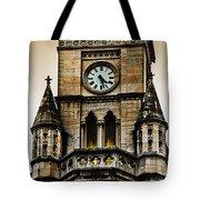 Colored Clock Tote Bag