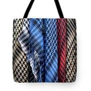 Colored Palestinian Keffiyeh Tote Bag