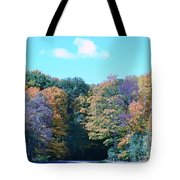 Colored Trees Tote Bag