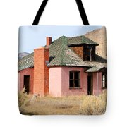 Colorful Abandoned Home In Dying Farm Town Tote Bag