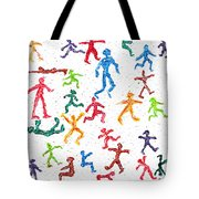 Colorful Acrylic Stickmen Characters Tote Bag