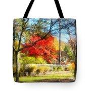 Colorful Autumn Street Tote Bag