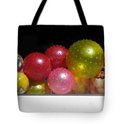 Colorful Balls In The Shop Window Tote Bag by Ausra Huntington nee Paulauskaite