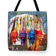 Colorful Banners At Surajkund Mela Tote Bag