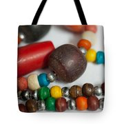 Colorful Beads In Chains Tote Bag