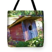 Colorful Birdie House Tote Bag