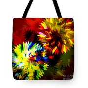 Colorful Blade Tote Bag