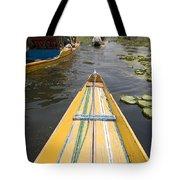 Colorful Boats On Dal Lake Dal Lake Tote Bag