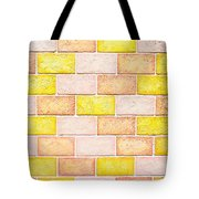 Colorful Brick Wall Tote Bag