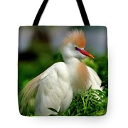 Colorful Cattle Egret Tote Bag