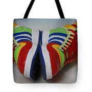 Colorful Clown Shoes Tote Bag