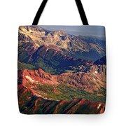 Colorful Colorado Rocky Mountains Planet Art Tote Bag