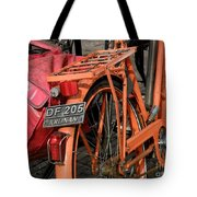Colorful Dutch Bikes Tote Bag