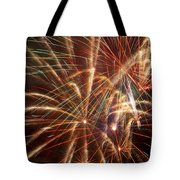 Colorful Fireworks Tote Bag