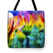 Colorful Flowers Together Tote Bag