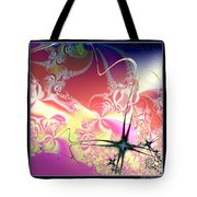 Colorful Frost Fractal 126 Tote Bag