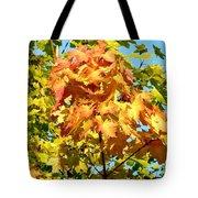 Colorful Leaf Cluster Tote Bag