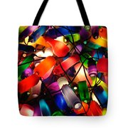 Colorful Lit Water Bottles Tote Bag