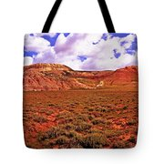 Colorful Mesas At Fossil Butte Nm Butte Tote Bag