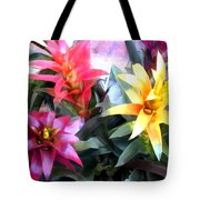 Colorful Mixed Bromeliads Tote Bag