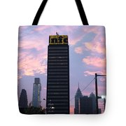 Colorful Morning Sky In Philly Tote Bag