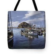 Colorful Morro Harbor Tote Bag