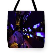 Colorful Passage Inside The Singapore Flyer Tote Bag