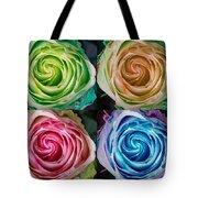 Colorful Rose Spirals Tote Bag