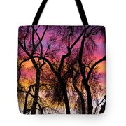 Colorful Silhouetted Trees 27 Tote Bag