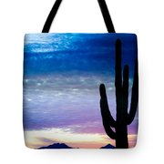 Colorful Southwest Desert Sunrise Tote Bag