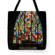 Colorful Stained Glass Chapel Window Tote Bag
