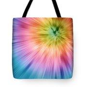 Colorful Starburst Tie Dye  Tote Bag