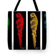 Colorful Tropical Parrot Abstract Parrot Ink Sketch Digital And Original Art By Madart Tote Bag