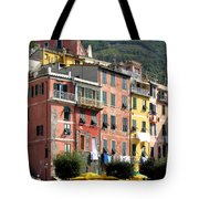 Colorful Vernazza Tote Bag