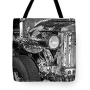 Colorful Vintage Car In Black And White Tote Bag