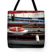 Colorful Wooden Boats Tote Bag